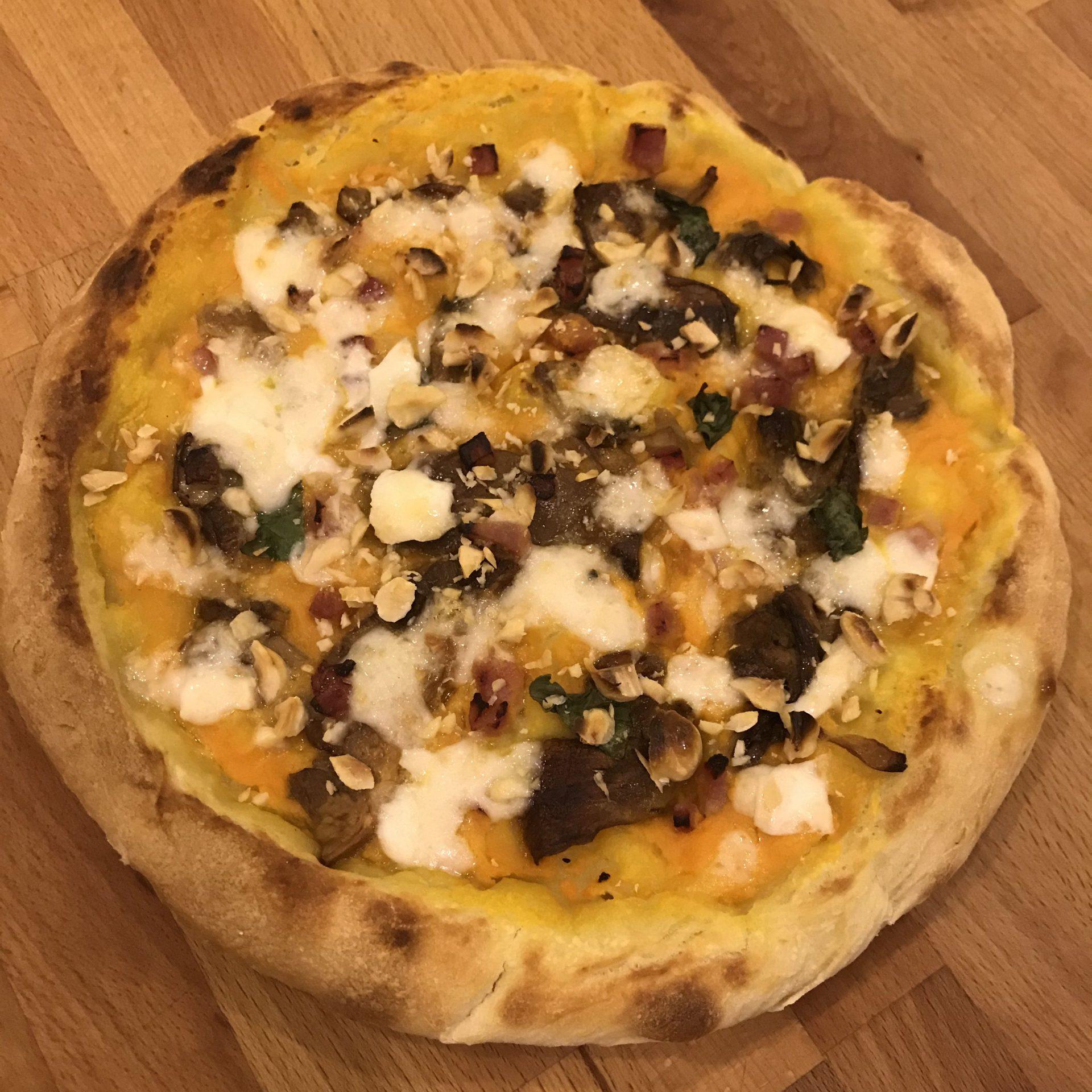Pizza zucca e porcini