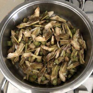 Tagliatelle funghi e carciofi (3)